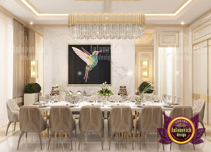 Superb Dining Room and the Importance of Colors:   by Luxury Antonovich Design,