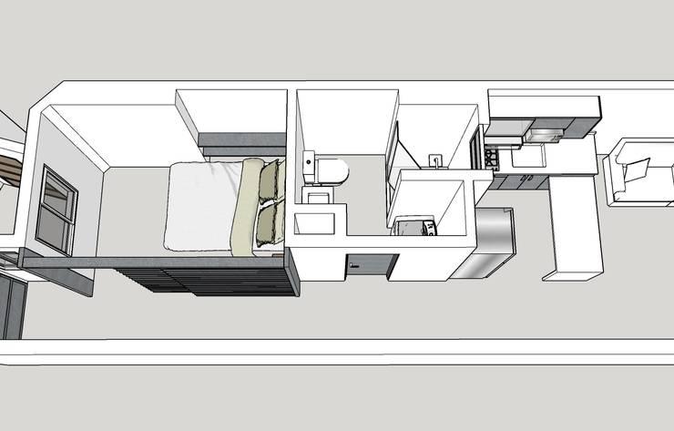 Diseño en 3D:  de estilo  por Remodelar Proyectos Integrales,