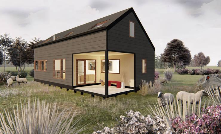 Casa Loica: Casas prefabricadas de estilo  por Mawünko