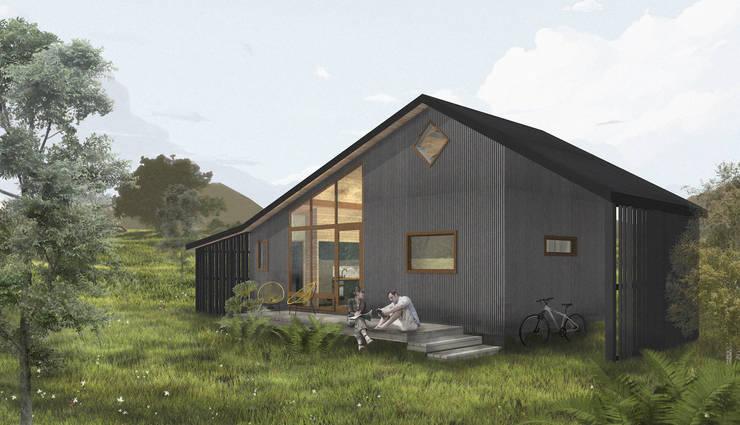 Casa Ketrü: Casas prefabricadas de estilo  por Mawünko