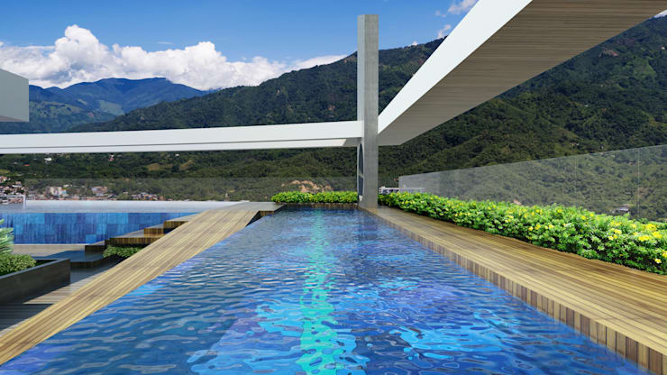 Piscinas de estilo  por Diseños y construcciones Dyco, Moderno