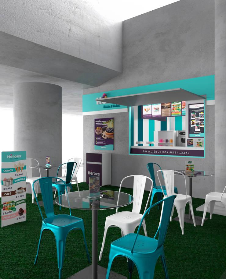 Diseño de Heladería : Espacios comerciales de estilo  por Pragma - Diseño,