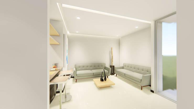 REMODELACION APTO : Casas unifamiliares de estilo  por SEQUOIA. Projects & Designs,