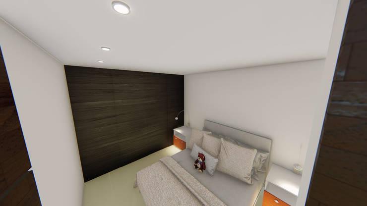 REMODELACION APTO : Habitaciones pequeñas de estilo  por SEQUOIA. Projects & Designs,