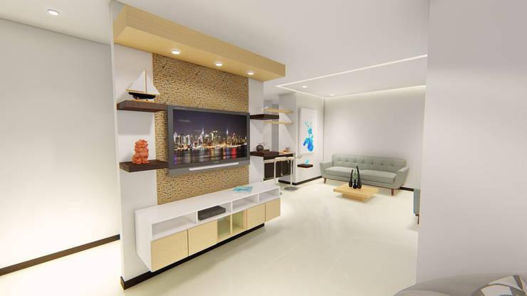 REMODELACION APTO : Salas de estilo  por SEQUOIA. Projects & Designs,