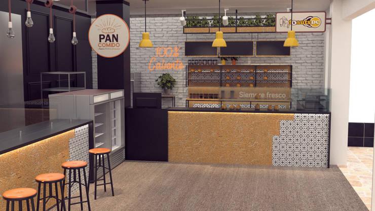 Diseño de panadería para PAN COMIDO:  de estilo  por Magrev - Diseño y construcción de espacios.,