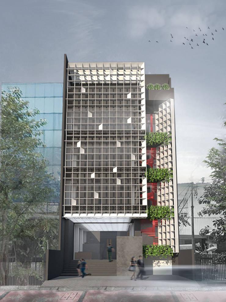 Batu Tulis Office: Gedung perkantoran oleh MODULA,