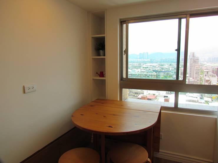 全室案例-台北市松山區:  餐廳 by ISQ 質の木系統家具,