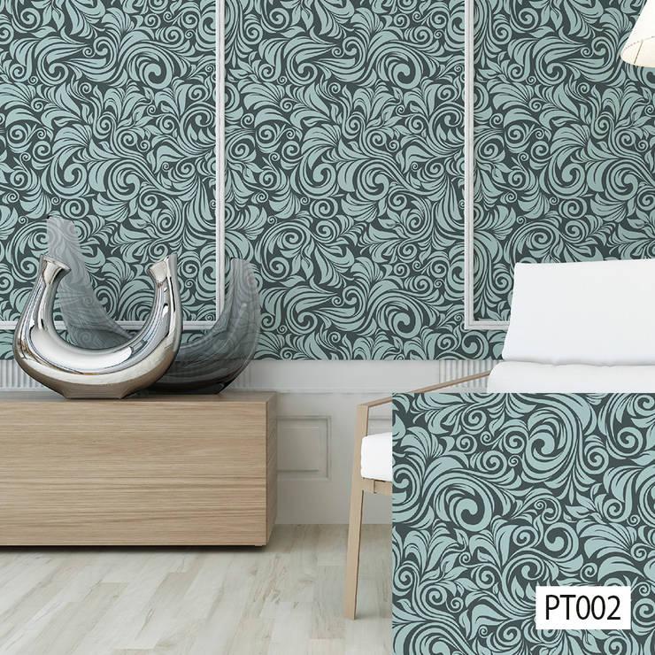 Papel Tapiz Ahesivo - Arteko: Paredes y suelos de estilo  por HOME DECO & HOME GLASS,