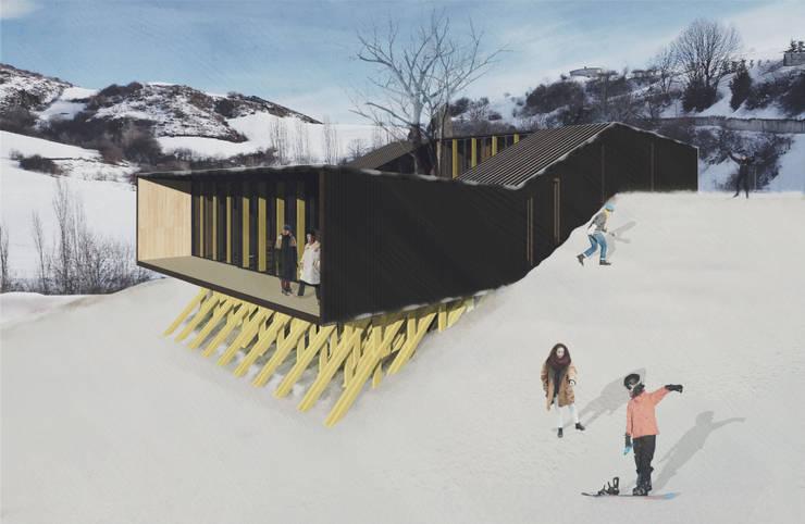 Refugio en la nieve: Casas de estilo  por Logan Leyton Arquitectos