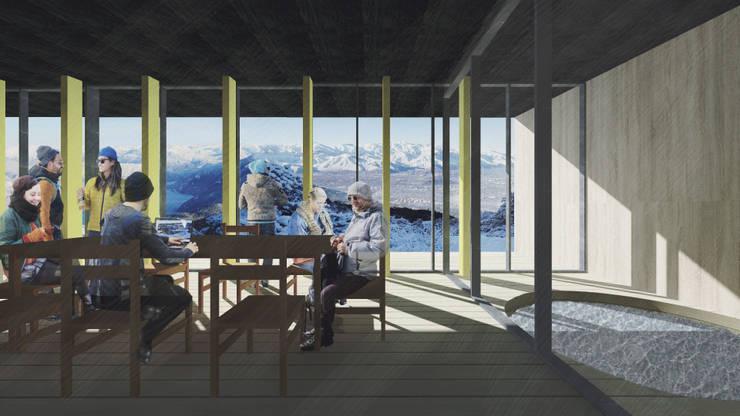Refugio en la nieve: Livings de estilo  por Logan Leyton Arquitectos