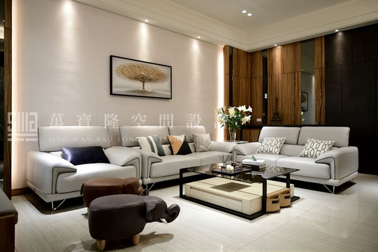 Salas / recibidores de estilo  por SING萬寶隆空間設計, Moderno