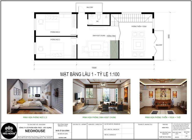 Mẫu biệt thự 2 tầng hiện đại độc đáo tại Tam Kỳ, Quảng Nam:   by NEOHouse