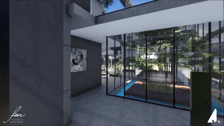 Zambian Luxury residence:  Corridor & hallway by FRANCOIS MARAIS ARCHITECTS,