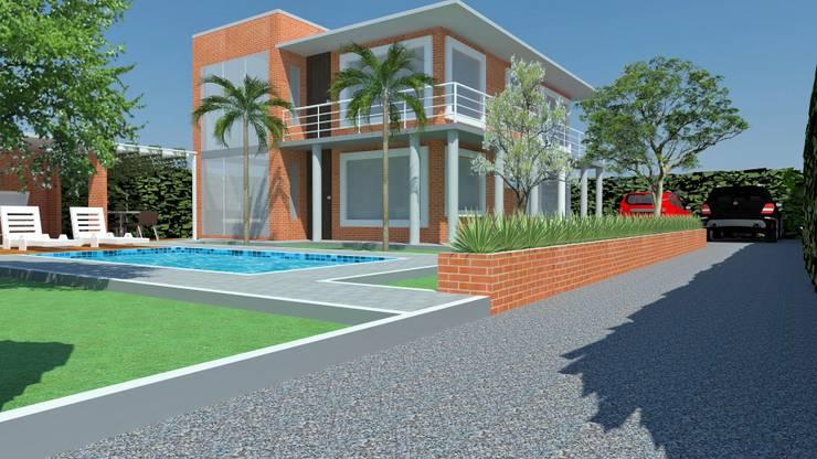 Casa Salazar: Casas campestres de estilo  por Diseño Colectivo Grupo ,