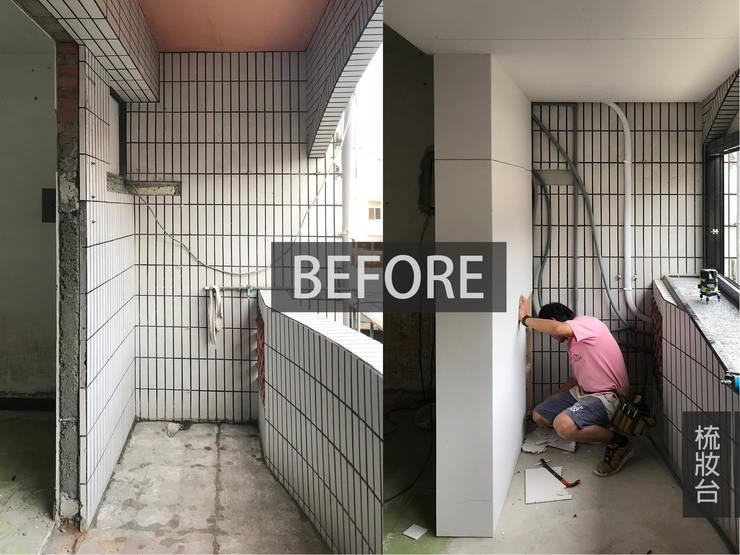 梳妝台施工前:  臥室 by 木博士團隊/動念室內設計制作,