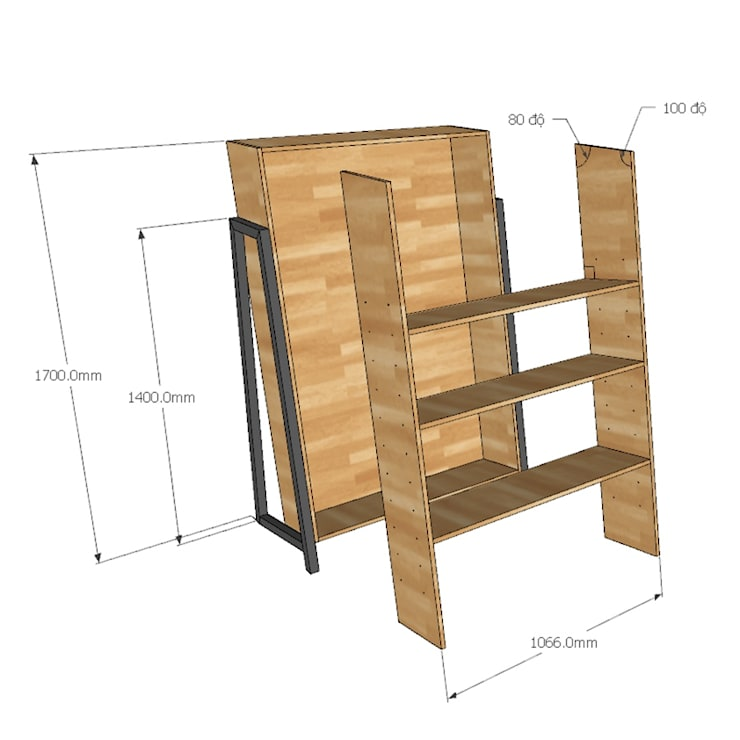 Kệ sách gỗ Laderto <q>thay đổi cục diện</q> trong phong cách nội thất:  Living room by Home Office,