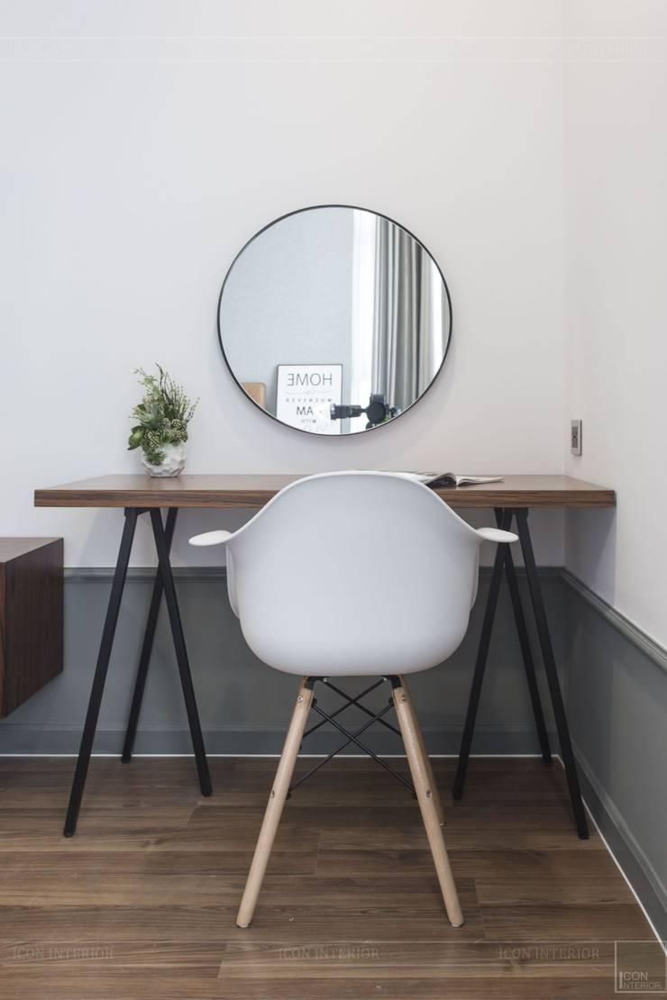 Thiết kế thi công nội thất chung cư 70m2 ấm cúng đáng mơ ước:  Phòng ngủ by ICON INTERIOR,