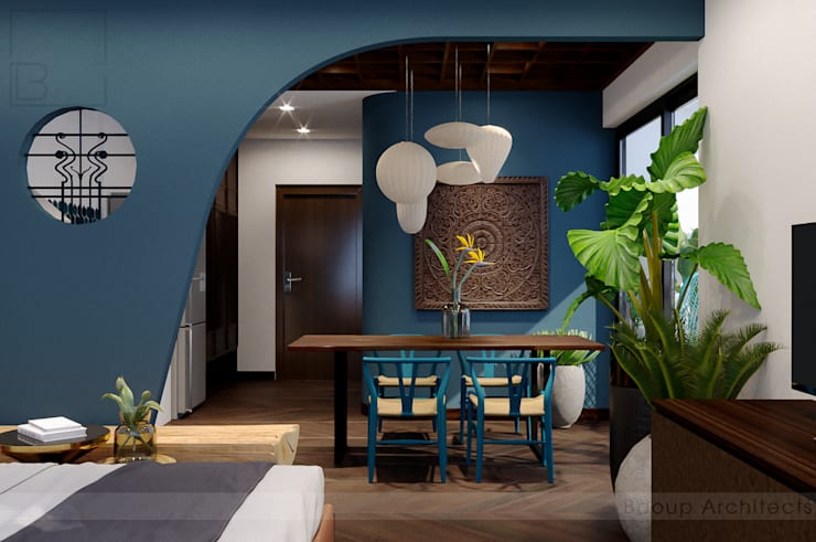 Single Apartment:  Phòng ngủ nhỏ by Bdoup Architects,