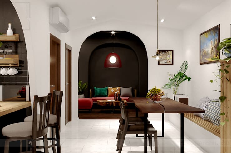 BaDen Apartment:  Phòng ngủ nhỏ by Bdoup Architects,