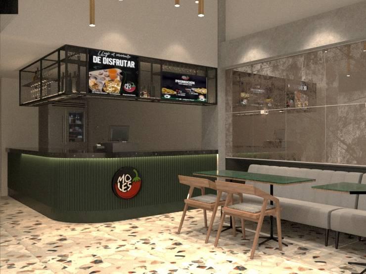 Restaurante Mexicano - diseño comercial :  de estilo  por ea interiorismo,