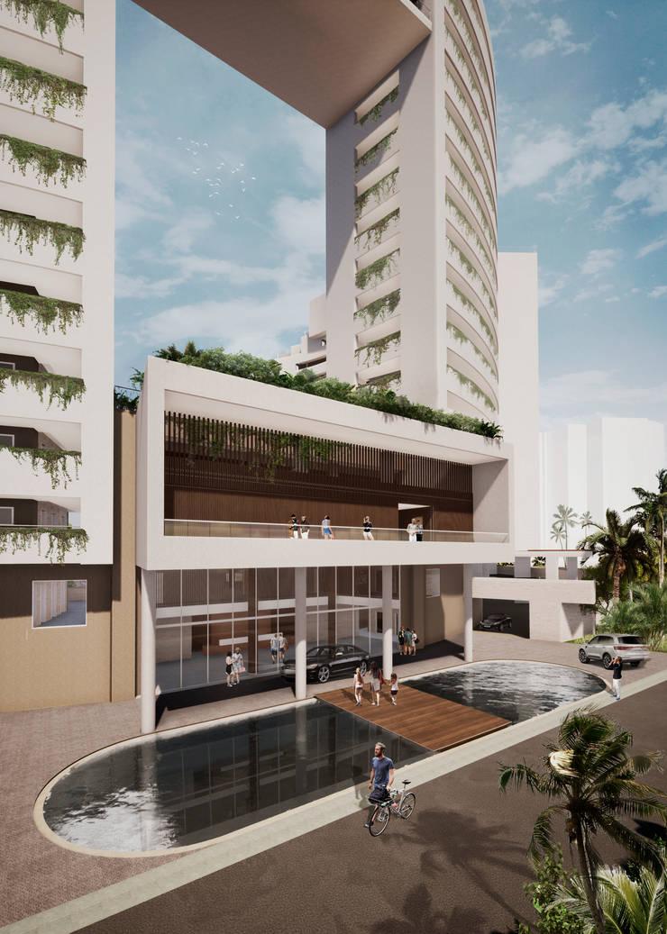 IROTAMA BAHIA: Casas multifamiliares de estilo  por CAMPUZANO ARQUITECTOS,