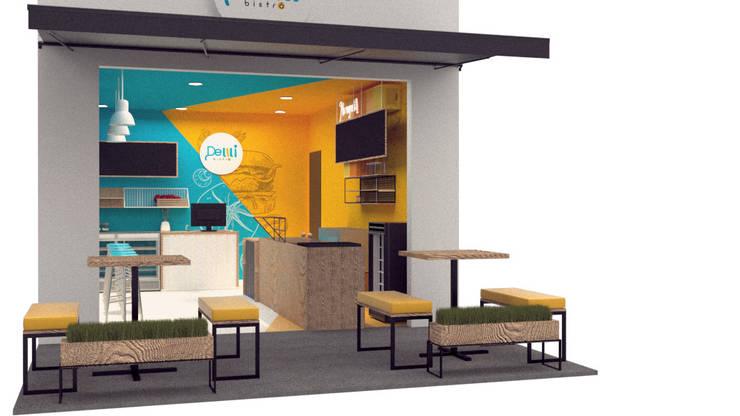Propuesta de restaurante DE LILI BISTRO:  de estilo  por Magrev - Diseño y construcción de espacios.,