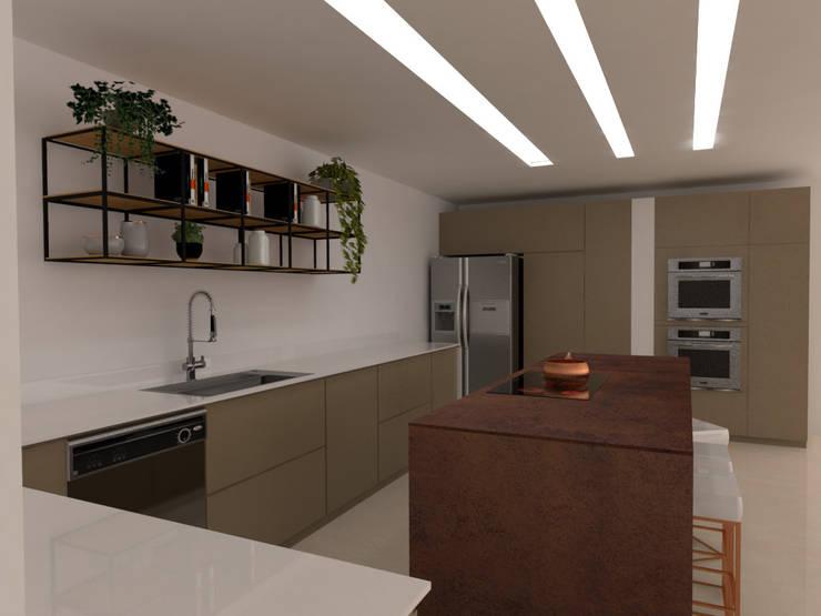 Cocina : Cocinas integrales de estilo  por Naromi  Design ,