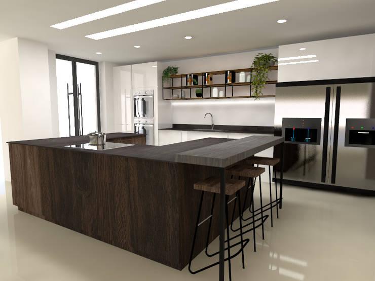 cocina moderna : Cocinas integrales de estilo  por Naromi  Design ,