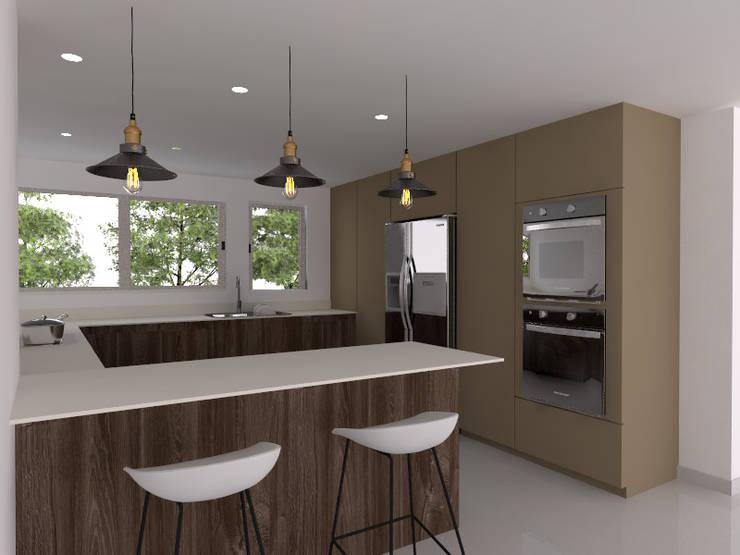 cocina pequeña : Cocinas pequeñas de estilo  por Naromi  Design ,