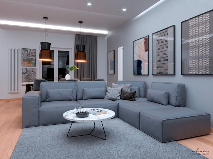 Living room by Santoro Design Render, Modern