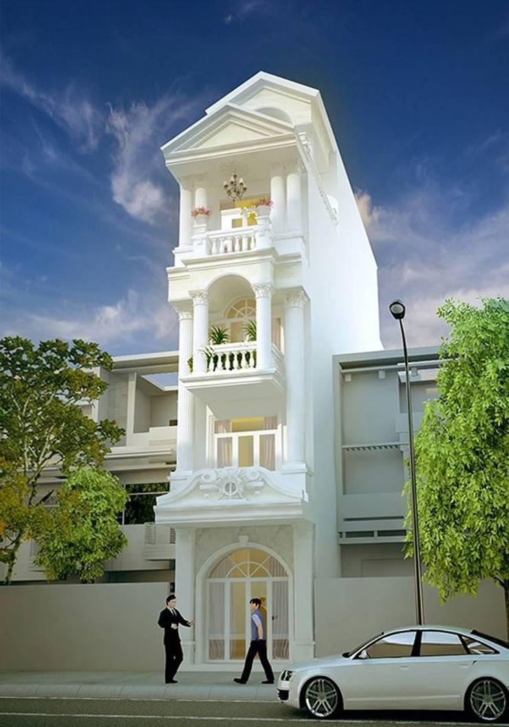 Chia sẽ 22 mẫu thiết kế mặt tiền nhà phố tân cổ điển đẹp:   by Thiết kế nhà đẹp ở Hồ Chí Minh,
