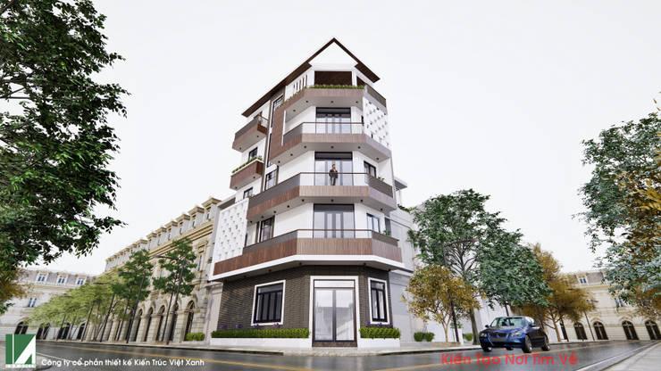 NHÀ 40M2 – 5 TẦNG HẠ LÝ – HẢI PHÒNG :   by công ty cổ phần Thiết kế Kiến trúc Việt Xanh,
