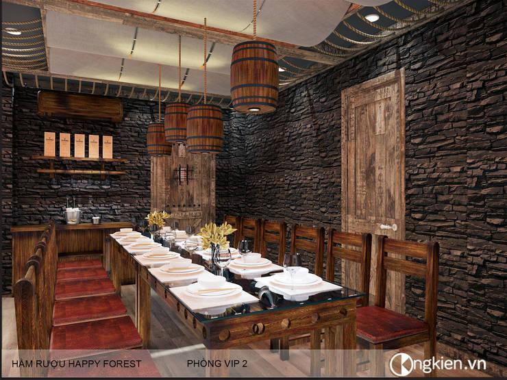 Thiết kế phòng VIP nhà hàng phong cách hầm rượu:   by Công ty TNHH Ông Kien,