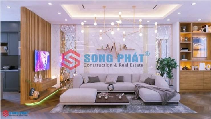 Thiết kế và thi công nội thất nhà phố 2 tầng 5x20m tại Bình Dương:  Dining room by Công ty TNHH TK XD Song Phát,