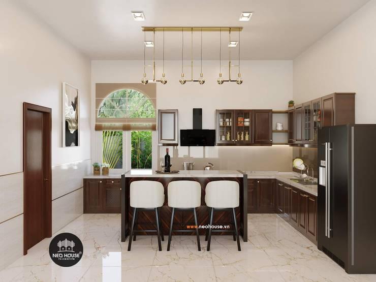 Mẫu biệt thự vườn 1 tầng mái thái đẹp | Hiện đại nhất 2019:  Kitchen by NEOHouse,
