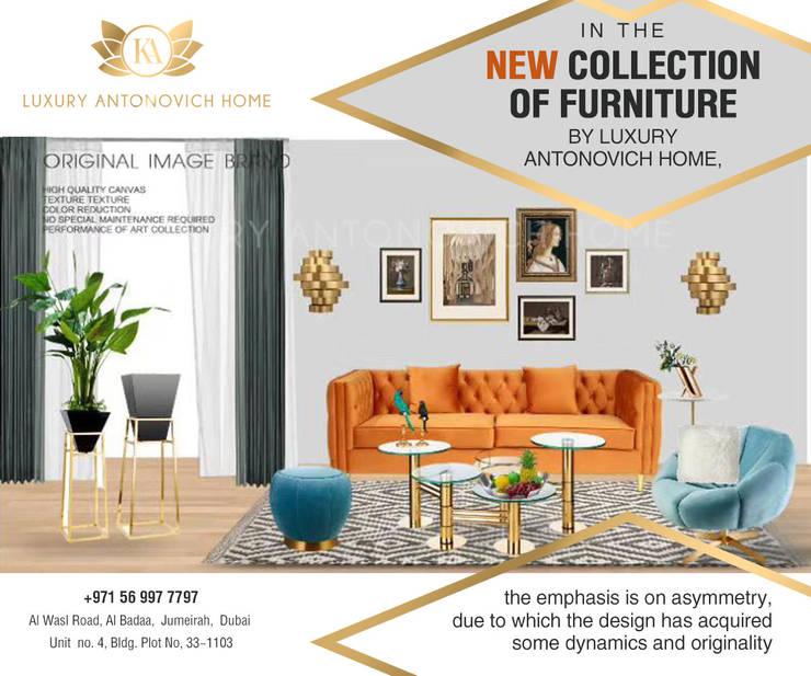 THE LATEST! Luxury Antonovich Home Impressive Showroom:   by Luxury Antonovich Design,
