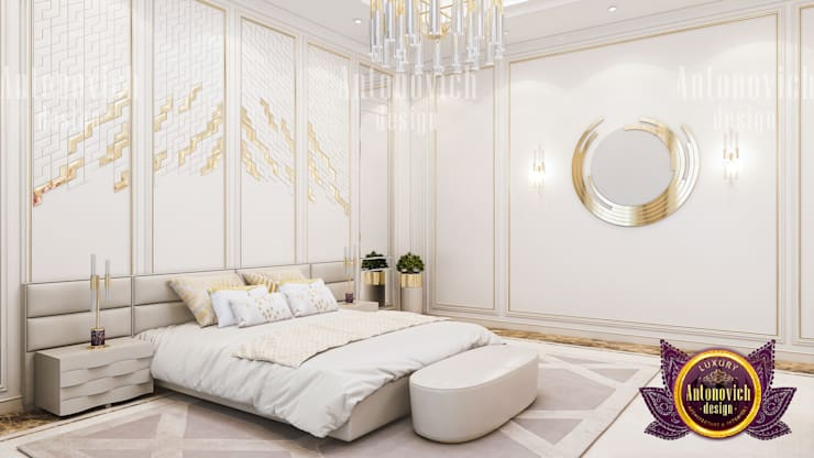 Bedroom Luxe Design:   by Luxury Antonovich Design,