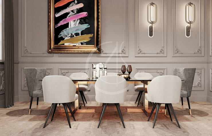 Dining room by Comelite Architecture, Structure and Interior Design ,