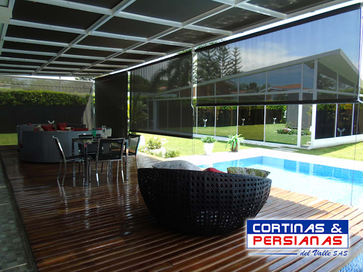 modern  by CORTINAS Y PERSIANAS DEL VALLE, Modern Textile Amber/Gold