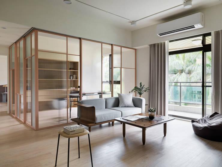 mu mu:  客廳 by 寓子設計, 北歐風