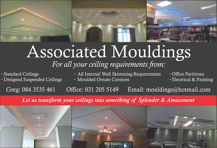 Ceilings:   by celings,