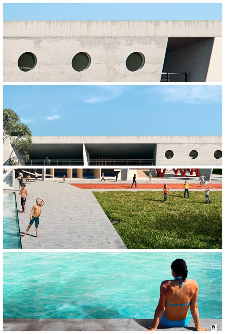 CGI – Incolballet: Piscinas de jardín de estilo  por ArmyOne,