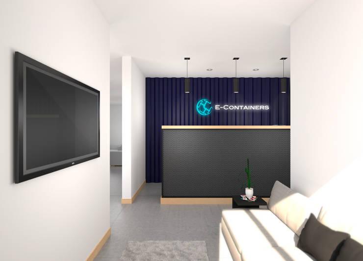 E-Containers: Oficinas y Tiendas de estilo  por Gamma,
