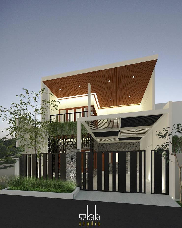 Desain Tampak Depan : Rumah tinggal  oleh SEKALA Studio,
