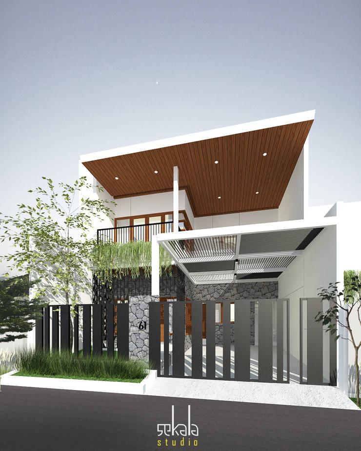 Desain Tampak Depan: Rumah oleh SEKALA Studio,