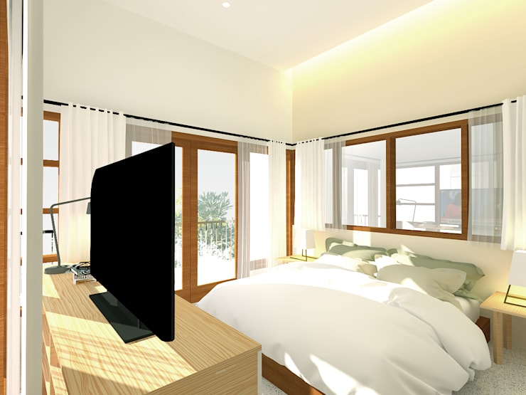 Parents Bedroom: Kamar Tidur oleh SEKALA Studio,