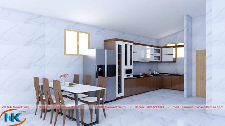 Tủ bếp gỗ acrylic hà nội không đường line giá tốt nhất tháng 7:   by Nội thất Nguyễn Kim,