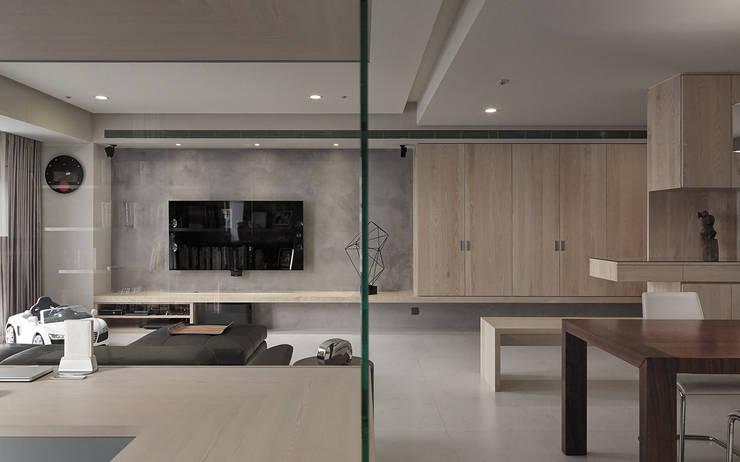 Projekty,  Ściany zaprojektowane przez 形構設計 Morpho-Design, Nowoczesny