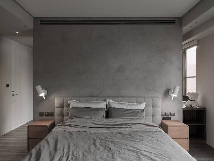 Projekty,  Sypialnia zaprojektowane przez 形構設計 Morpho-Design, Nowoczesny